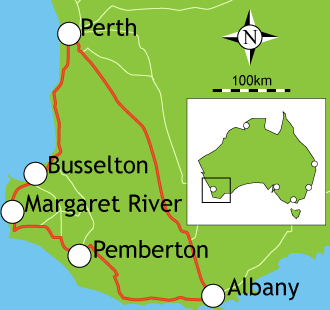 With a large fleet on the road every day, we are regularly travelling between Perth, and major regional centres across the South West and Great Southern including Bunbury, Busselton, Dunsborough, Margaret River, Manjimup, Pemberton, Williams, Katanning, Kojonup, Denmark and Albany.